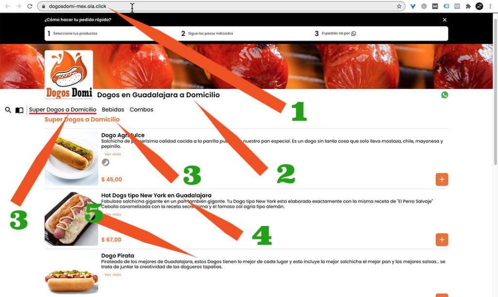 Explicación del SEO en nuestro menú digital.